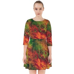 Wonderful Marbled Structure F Smock Dress