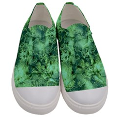 Wonderful Marbled Structure I Men s Low Top Canvas Sneakers