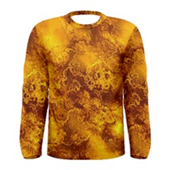 Wonderful Marbled Structure H Men s Long Sleeve Tee