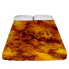 Wonderful Marbled Structure H Fitted Sheet (california King Size)