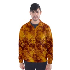 Wonderful Marbled Structure H Wind Breaker (men)
