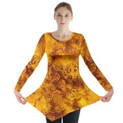 Wonderful Marbled Structure H Long Sleeve Tunic