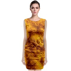 Wonderful Marbled Structure H Classic Sleeveless Midi Dress