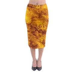Wonderful Marbled Structure H Midi Pencil Skirt