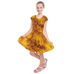 Wonderful Marbled Structure H Kids  Short Sleeve Dress