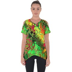 Awesome Fractal 35i Cut Out Side Drop Tee