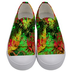 Awesome Fractal 35i Kids  Low Top Canvas Sneakers
