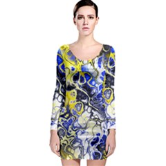 Awesome Fractal 35a Long Sleeve Bodycon Dress