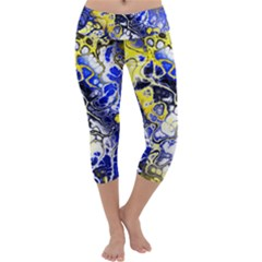 Awesome Fractal 35a Capri Yoga Leggings