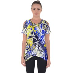 Awesome Fractal 35a Cut Out Side Drop Tee