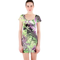 Awesome Fractal 35d Short Sleeve Bodycon Dress