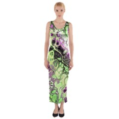 Awesome Fractal 35d Fitted Maxi Dress