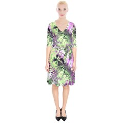 Awesome Fractal 35d Wrap Up Cocktail Dress