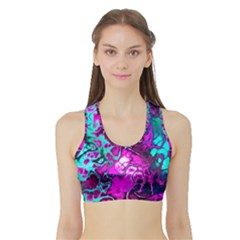 Awesome Fractal 35b Sports Bra With Border
