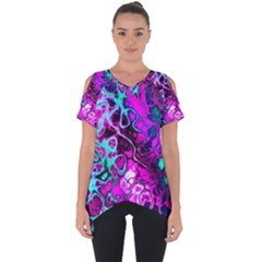 Awesome Fractal 35b Cut Out Side Drop Tee