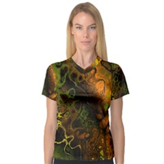 Awesome Fractal 35e V Neck Sport Mesh Tee