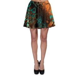 Awesome Fractal 35f Skater Skirt