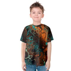 Awesome Fractal 35f Kids  Cotton Tee