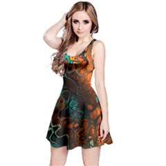Awesome Fractal 35f Reversible Sleeveless Dress