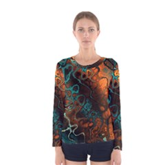 Awesome Fractal 35f Women s Long Sleeve Tee