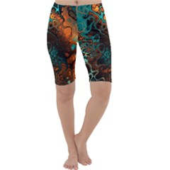 Awesome Fractal 35f Cropped Leggings