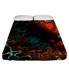 Awesome Fractal 35f Fitted Sheet (queen Size)