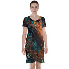 Awesome Fractal 35f Short Sleeve Nightdress