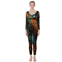 Awesome Fractal 35f Long Sleeve Catsuit