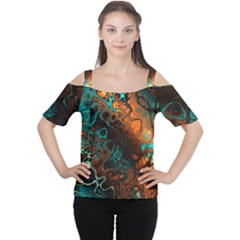 Awesome Fractal 35f Cutout Shoulder Tee