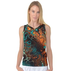 Awesome Fractal 35f Women s Basketball Tank Top