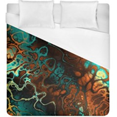 Awesome Fractal 35f Duvet Cover (king Size)