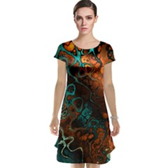 Awesome Fractal 35f Cap Sleeve Nightdress