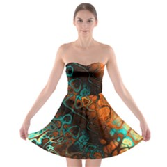 Awesome Fractal 35f Strapless Bra Top Dress