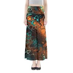 Awesome Fractal 35f Full Length Maxi Skirt