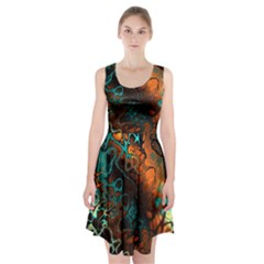 Awesome Fractal 35f Racerback Midi Dress
