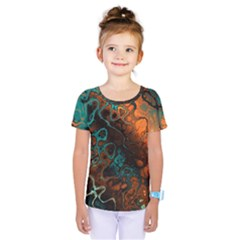 Awesome Fractal 35f Kids  One Piece Tee