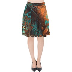 Awesome Fractal 35f Velvet High Waist Skirt