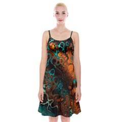 Awesome Fractal 35f Spaghetti Strap Velvet Dress