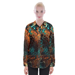 Awesome Fractal 35f Womens Long Sleeve Shirt