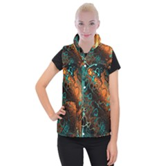 Awesome Fractal 35f Women s Button Up Puffer Vest