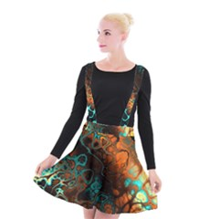 Awesome Fractal 35f Suspender Skater Skirt