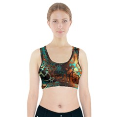 Awesome Fractal 35f Sports Bra With Pocket
