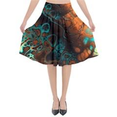 Awesome Fractal 35f Flared Midi Skirt