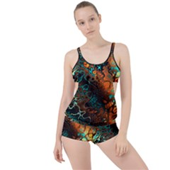 Awesome Fractal 35f Boyleg Tankini Set
