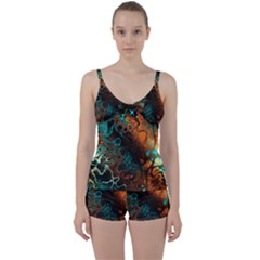 Awesome Fractal 35f Tie Front Two Piece Tankini