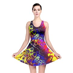 Awesome Fractal 35c Reversible Skater Dress
