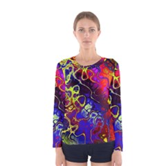 Awesome Fractal 35c Women s Long Sleeve Tee
