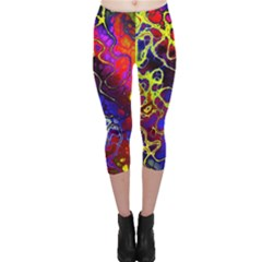 Awesome Fractal 35c Capri Leggings