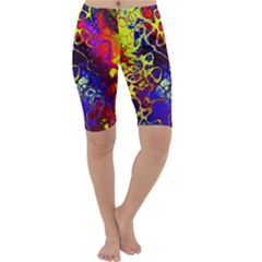 Awesome Fractal 35c Cropped Leggings