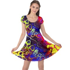 Awesome Fractal 35c Cap Sleeve Dress